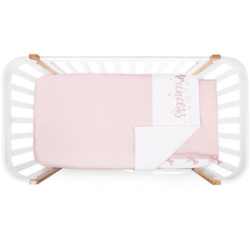 Комплект постельного белья Happy Baby 2 предмета наволочка+пододеяльник White-Pink (6)