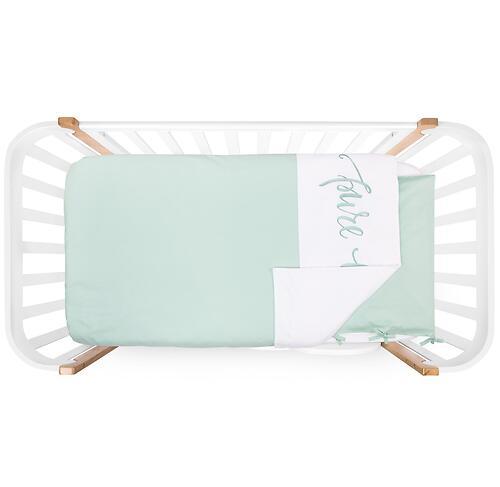 Комплект постельного белья Happy Baby 2 предмета наволочка+пододеяльник White-Mint (5)