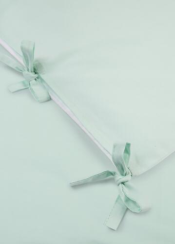 Комплект постельного белья Happy Baby 2 предмета наволочка+пододеяльник White-Mint (7)