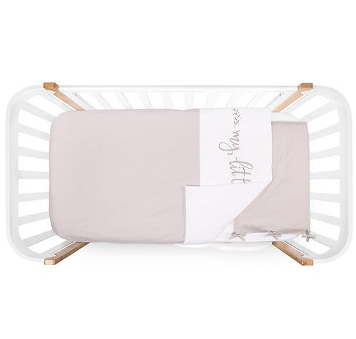 Комплект постельного белья Happy Baby 2 предмета наволочка+пододеяльник White-Grey 87514 (6)
