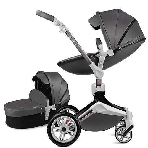 Коляска 2в1 Hot Mom комбо Dark Grey F023 (4)