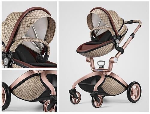 Коляска 2в1 Hot Mom экокожа Gucci (12)