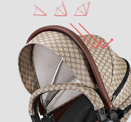 Коляска 2в1 Hot Mom экокожа Gucci (10)