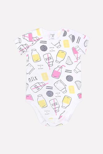 Боди для девочки Crockid (К 6208/розовые бутылочки на белом) (3)