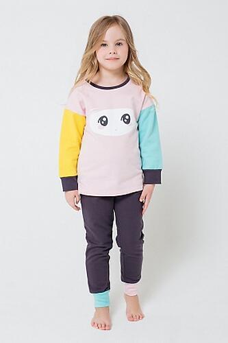 Пижама Crockid (К 1543/холодно-розовый+темно-серый) (4)