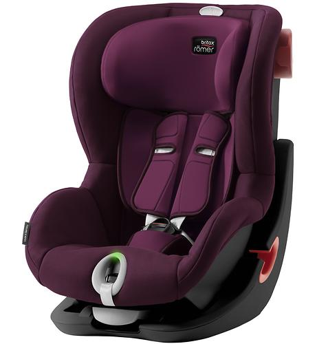 Автокресло Britax Römer King II LS Black Series Burgundy Red Trendline (5)