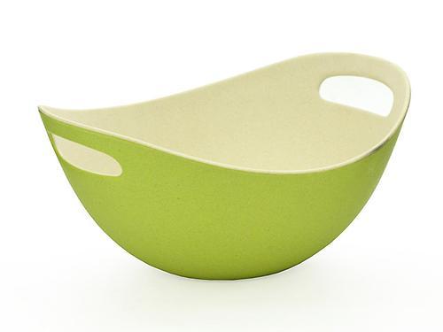 Миска 27 см / 2,3 л с ручками зеленая (бамбуковое волокно) Fissman 7153 (1)