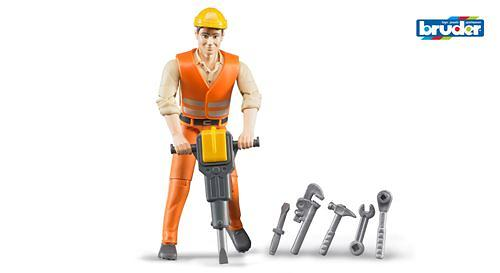Фигурка строителя с аксессуарами (1)