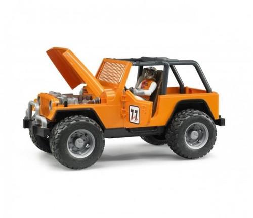 Внедорожник Cross Country Racer оранжевый с гонщиком (8)
