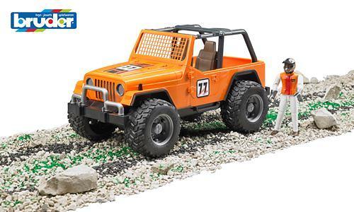 Внедорожник Cross Country Racer оранжевый с гонщиком (7)