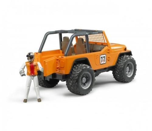 Внедорожник Cross Country Racer оранжевый с гонщиком (9)