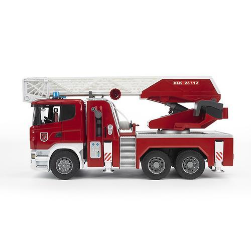 Пожарная машина Scania с выдвижной лестницей и помпой с модулем со световыми и звуковыми эффектами (6)
