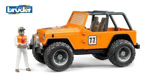 Внедорожник Cross Country Racer оранжевый с гонщиком (6)