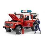 Внедорожник Land Rover Defender Station Wagon Пожарная с фигуркой