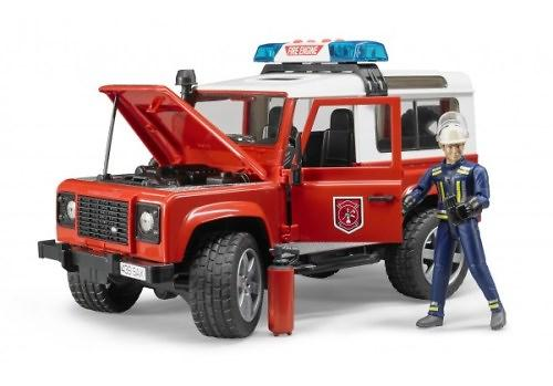 Внедорожник Land Rover Defender Station Wagon Пожарная с фигуркой (1)