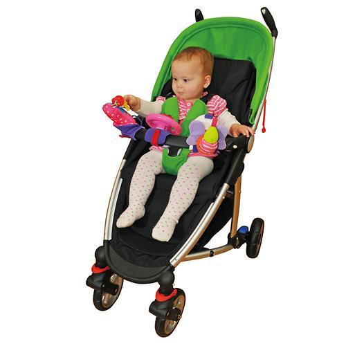 Набор развивающих игрушек для коляски: гусеничка, руль, телефон (4)