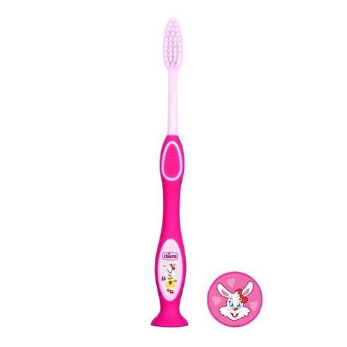 Зубная щетка Chicco розовая 3-6 лет (5)