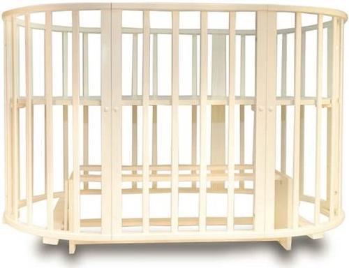 Кроватка-трансформер 8 в 1 Incanto Gio Deluxe овальная с маятником Слоновая кость (8)
