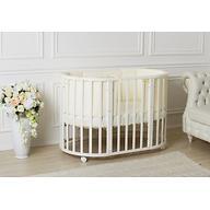 Кроватка-трансформер Incanto Mimi овальная 7в1 Белая