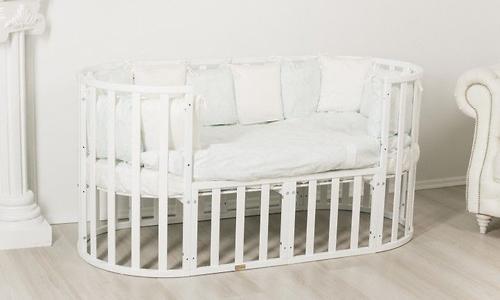 Кроватка-трансформер 7в1 Uomo Da Vinci овальная Венге (11)