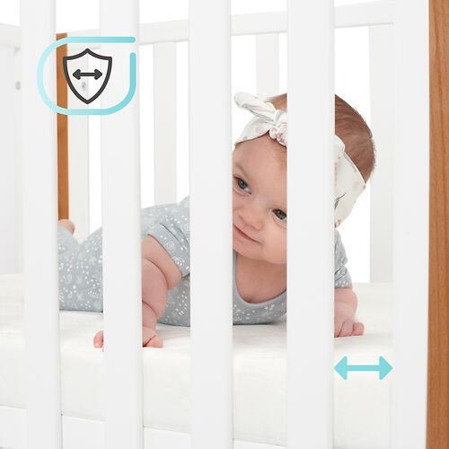 Детская кроватка Kinderkraft <img class='emojiMco' alt='🇪🇺' src='https://minim.kz/system/library/Emoji/AssetsEmoji/Icons/IconsIphone/U1F1EA U1F1FA.png'> с матрасом KOYA White (30)