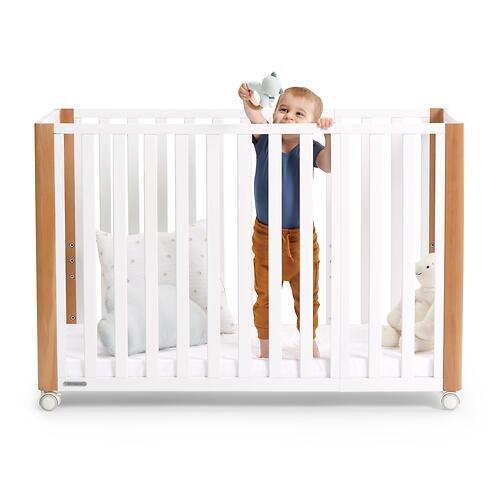Детская кроватка Kinderkraft <img class='emojiMco' alt='🇪🇺' src='https://minim.kz/system/library/Emoji/AssetsEmoji/Icons/IconsIphone/U1F1EA U1F1FA.png'> с матрасом KOYA White (35)