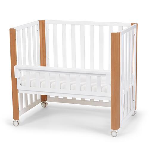 Детская кроватка Kinderkraft <img class='emojiMco' alt='🇪🇺' src='https://minim.kz/system/library/Emoji/AssetsEmoji/Icons/IconsIphone/U1F1EA U1F1FA.png'> с матрасом KOYA White (22)