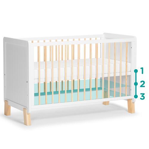 Детская кроватка Kinderkraft <img class='emojiMco' alt='🇪🇺' src='https://minim.kz/system/library/Emoji/AssetsEmoji/Icons/IconsIphone/U1F1EA U1F1FA.png'> с матрасом NICO White (14)