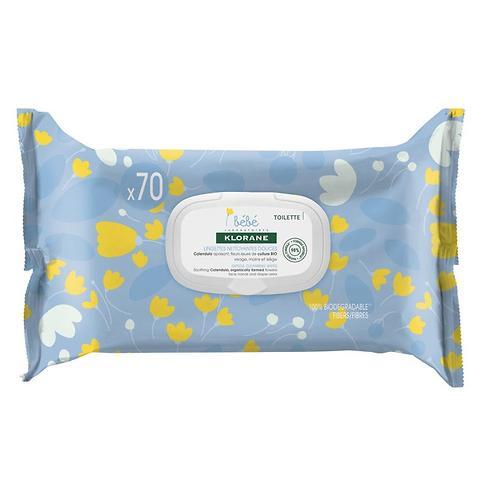 Салфетки очищающие Klorane BeBe 70 шт (1)