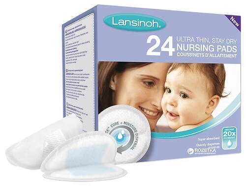 Вкладыши в бюстгалтер Lansinoh Blue Lock Disposable Nursing Pads 24 шт (4)