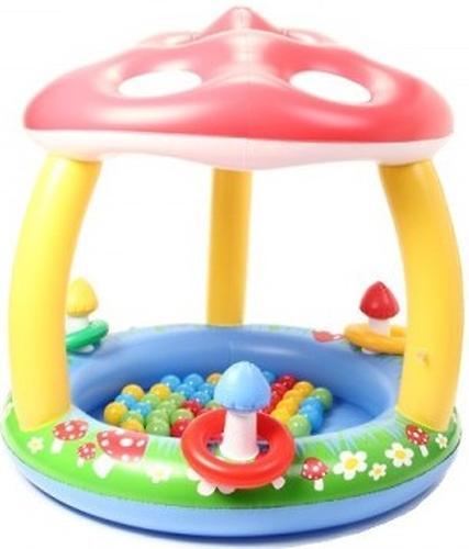Уценка! Игровой надувной центр Madd Kids Грибочек с шариками (1)