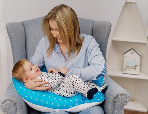 Уценка! Подушка Roxy для беременных, наполнитель полистерол (шарики) RPP-006Wb (Ал) (17)