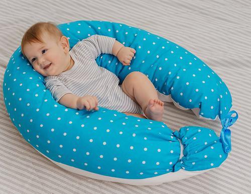 Подушка для беременных Roxy Kids Голубая (полистирол/холлофайбер наполнитель) (22)
