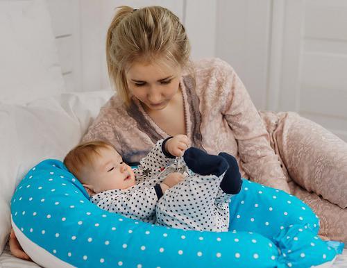 Подушка для беременных Roxy Kids Премиум с кармашком и завязками (20)