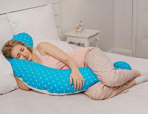 Подушка для беременных Roxy Kids Голубая (полистирол/холлофайбер наполнитель) (16)