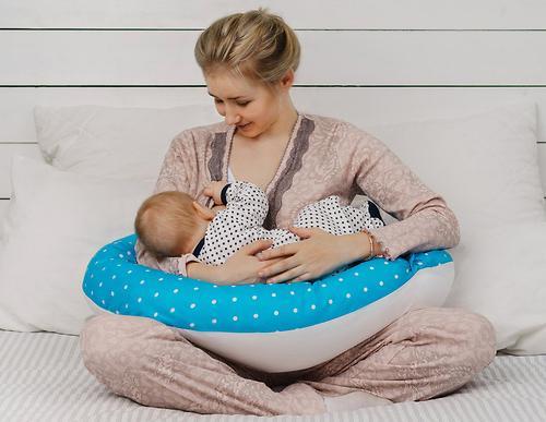 Подушка для беременных Roxy Kids Голубая (полистирол/холлофайбер наполнитель) (21)