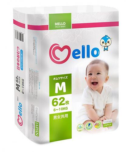 Подгузники Mello M 6-10 кг 62шт (1)