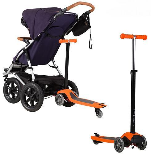 Самокат-подножка для второго ребенка 2в1 Mountain Buggy Freerider Черный (8)
