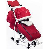 Санки-коляска Мое детство Снеговик Вишня