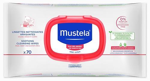 Очищающие салфетки Mustela успокаивающие 70 шт (1)