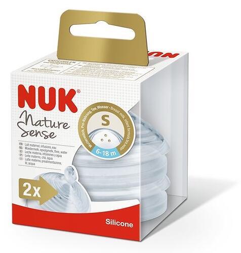 Соска Nuk Nature Sense 6-18 мес силикон 2шт отверстие S (6)