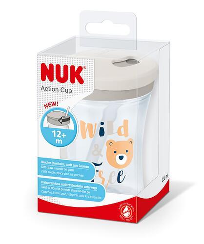Поильник Nuk Evolution Action 12 мес насадка трубочка 230 мл в ассортименте (6)