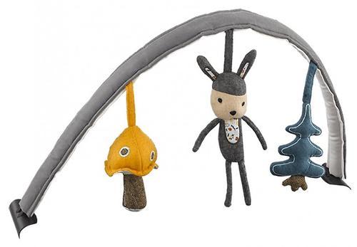 Дуга с игрушками Nuna для шезлонга Leaf двусторонняя Reversible (3)