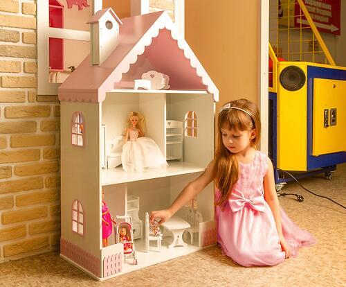 Кукольный домик PeMa kids Вероника Бело-Розовый (8)