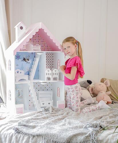 Кукольный домик PeMa kids Вероника Бело-Розовый (7)