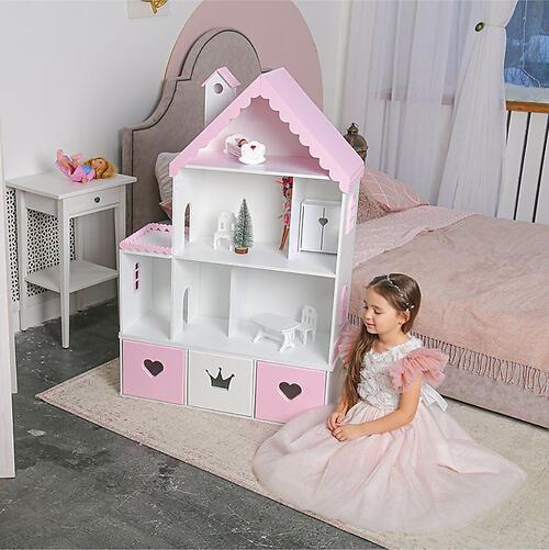 Кукольный домик PeMa kids Стефания Лилово-Розовый (7)