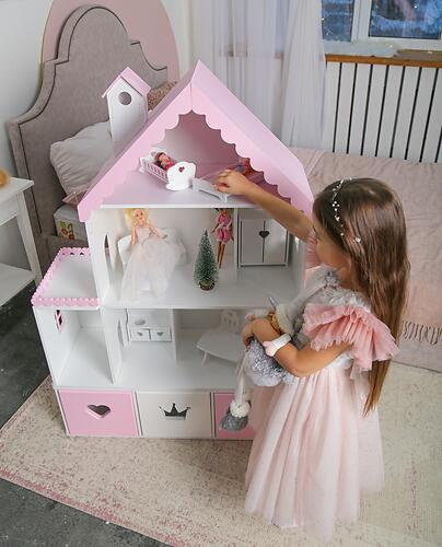 Кукольный домик PeMa kids Стефания Лилово-Розовый (8)