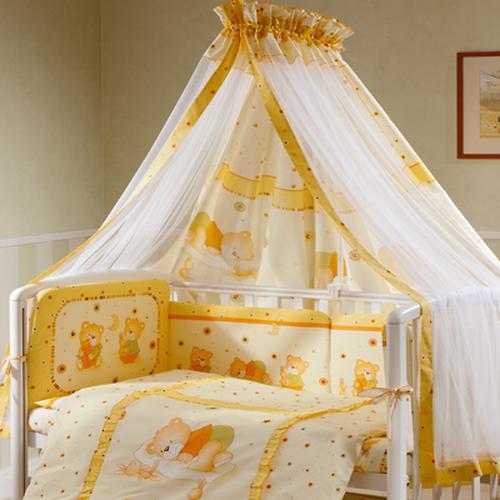 Постельное белье Perina Ника Мишка на подушке бежевый 7 предметов (7)