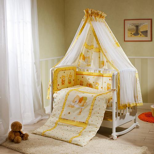 Постельное белье Perina Ника Мишка на подушке бежевый 7 предметов (5)