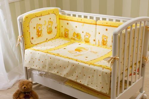 Постельное белье Perina Ника Мишка на подушке бежевый 7 предметов (6)